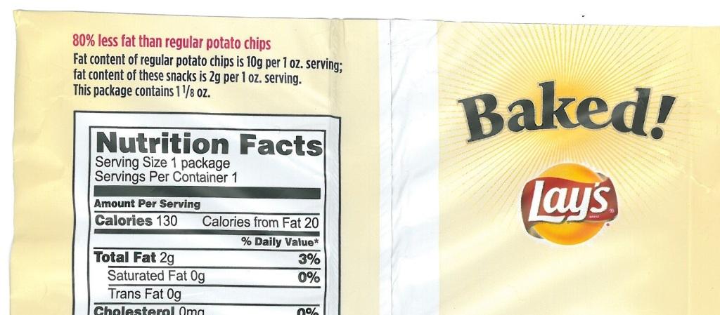 Angabe zum Fettgehalt von Kartoffelchips - Wieviel Fett enthalten die Chips denn nun?